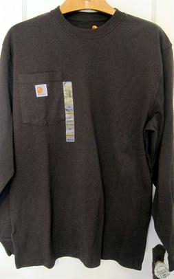 NEW Carhartt Men's Sz M Dark Brown Original Fit Long Sleeve