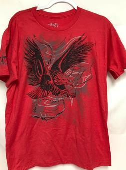 New Men's Western Wrangler Rock 47 T-Shirt Red Size Large Ea