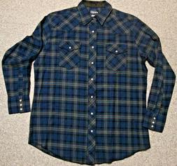 NEW Men's XLT Pearl SNAP Front WRANGLER Cotton Flannel SHIRT