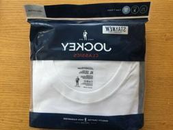 New Jockey Mens White 3 Pack Classic Crew neck T-Shirts Unde