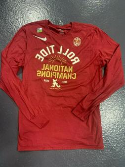 NEW NIKE OFFICIAL ATHLETIC CUT NIKE RED GOLD 100% COTTON LON