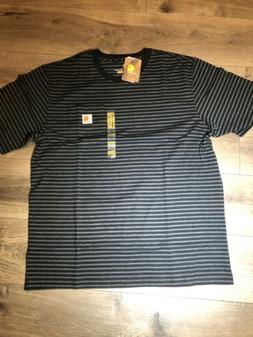 New Carhartt Original Fit T-shirt Tee Chest Pocket Black Str