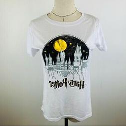 New Harry Potter White Short Sleeve Juniors Graphic T-Shirt