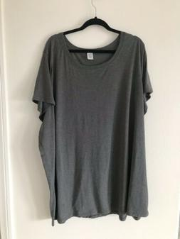 New Without Tags 2 Men's T-Shirts Plus Size 5X Gray Cotton