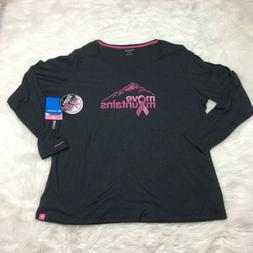 NEW Columbia Womens Size 2X TTIP Long Sleeve T-Shirt Pink Ri