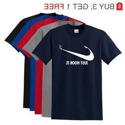 Nike Slogan t-shirt,Just Hook It ADULT funny T-shirt,Meme Sw