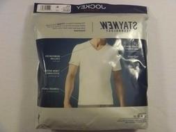 NIP Men's Jockey Big Man 100% Cotton 2-pk. V-Neck T-Shirts U