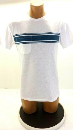 NWOT GOODTHREADS MENS STRIPED SLUB COTTON T-SHIRT SIZE XS
