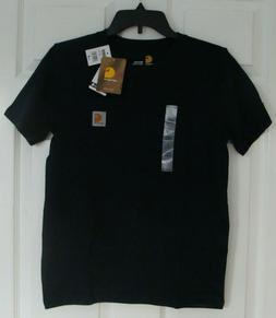 *NWT* Carhartt Boy's Pocket T-Shirt Navy Blue Size M 10/12