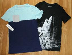 NWT Boy Size 12 Lot of 2 Fab Kids T-shirts Shark Graphic, Co