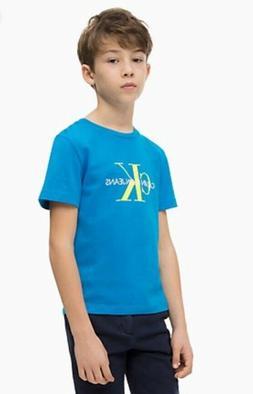 NWT Calvin Klein Boys Organic 100% Cotton Monogram Logo Blue