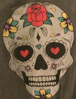 NWT Grayson Day of the Dead Halloween Women's/Juniors V-neck