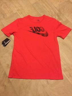 NWT Men's Nike Golf Dry Lockup T-Shirt Dri-Fit Orange 854512