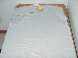 NWT MEN'S SMALL RELAXED FIT SS CARHARTT FORCE HENLEY T-SHIRT