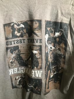 NWT mens medium brown Wrangler graphic t-shirt