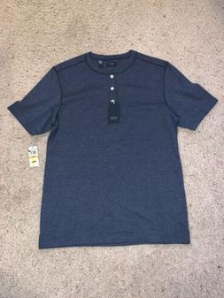 NWT New Men's Arrow USA 1851 Blue Henley T Shirt Size S Sm