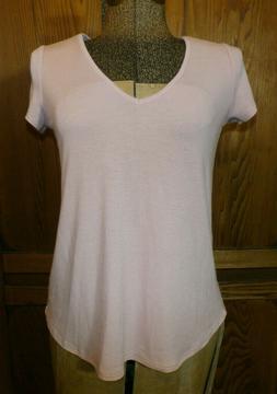 NWT Sz XS Neutral Pink Jersey T-shirt Self Esteem Clothing