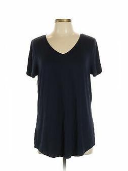NWT Amazon Essentials Women Blue Short Sleeve T Shirt L
