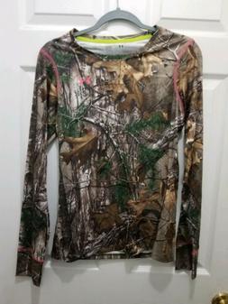 NWT Womens Under Armour Heatgear Shirt Camo Long Sleeve Scen
