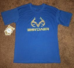 NWT Youth BoyS Size 10/12 Realtree Graphic T-shirt BLUE VERY