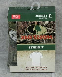 Mossy Oak P2 Crew T-Shirt Size S 34-36 2 T-Shirts Pack