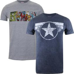 Marvel Comics - Pack of 2 T-Shirts - Official  - S-XXL