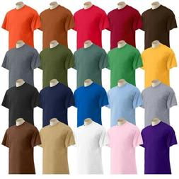 Pack of 6 - 100% Cotton T-Shirt Plain Man Premium heavy weig