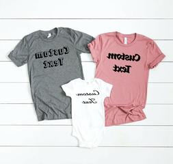 Personalized T-Shirt, Add Your Own Text, Custom T-shirt, Cus
