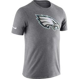 Nike Philadelphia Eagles Dri-Fit Cotton Logo T-Shirt Charcoa