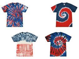 Pick a Patriotic Tie Dye T-Shirts Adult S - 5XL Cotton Color