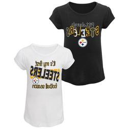 Pittsburgh Steelers NFL Toddler Girls' 2-Pack Graphic T-Sh