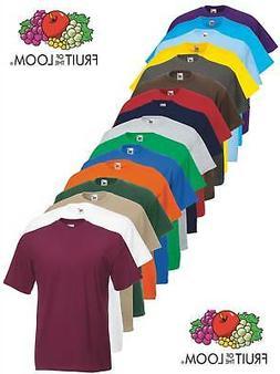 Fruit of the Loom Plain Blank Mens Mans Cotton Tee Shirt Tsh