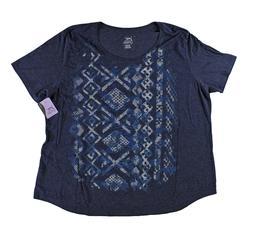 Plus Size Woman Navy Tee Shirt Top Tshirt Nwt 4X 5X Casual J
