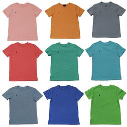 Ralph Lauren Polo Boys T-Shirts Crew Neck & V-Neck 100% Cott