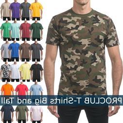 PROCLUB Mens T Shirts HEAVY BIG AND TALL TEE Hip Hop short S