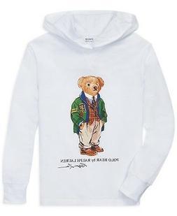 Ralph Lauren Polo Bear BIG boys  Hoodie T shirt cotton top S