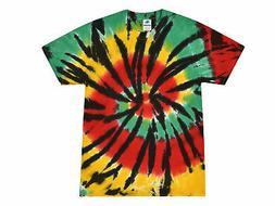 Rasta Web Multi-Color Tie Dye T-Shirts S M L XL 2XL 3XL Cott