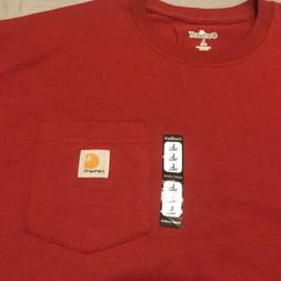 Carhartt Red Pocket T Shirt Mens Size Lg Large Tall New With