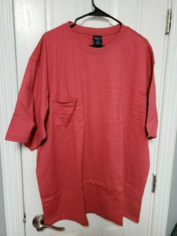 Roundtree & Yorke Men's Soft Crew Neck SS T Shirt  3XLT Red