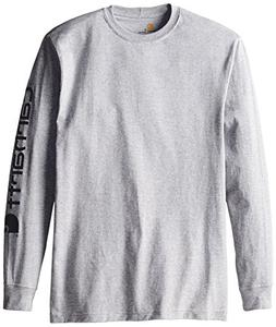 Carhartt Signature Logo T-Shirt - Long-Sleeve - Men's Heathe