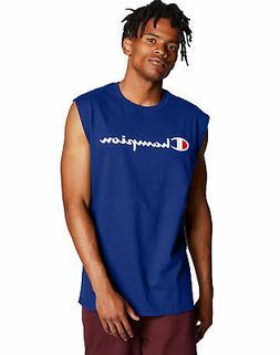 Sleeveless T-Shirt Champion Men's Tee Classic Jersey Muscle
