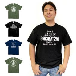 Social Distancing Funny Humor Cotton T-Shirts Printed in USA