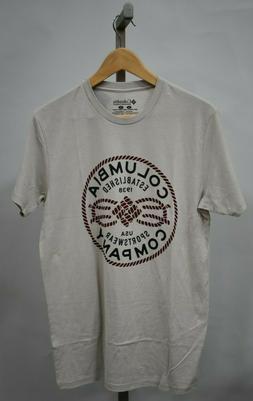 COLUMBIA SPORTSWEAR Men's Beige Graphic T-Shirt