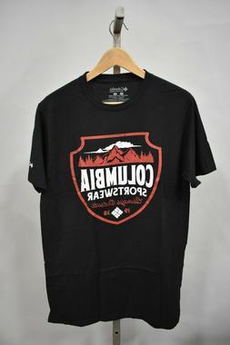 COLUMBIA SPORTSWEAR Men's Black Graphic T-Shirt