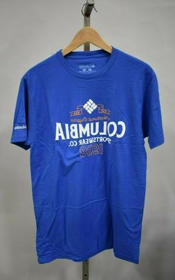 COLUMBIA SPORTSWEAR Men's Blue Graphic T-Shirt
