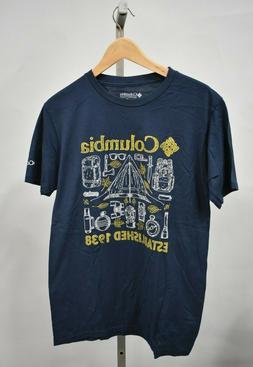 COLUMBIA SPORTSWEAR Men's Navy Blue Graphic T-Shirt
