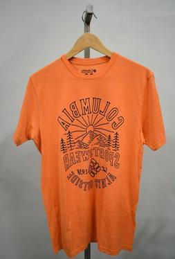 COLUMBIA SPORTSWEAR Men's Orange Graphic T-Shirt