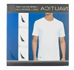 Nautica Stretch Super Soft Men's Tagless Crew Neck T-Shirts,