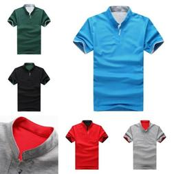 Summer Fashion Mens Boys T-Shirts Solid Short Sleeve Shirts