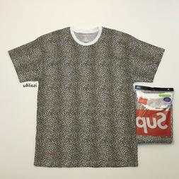 Supreme/Hanes Leopard Tagless T-Shirt With Stamped Logo New